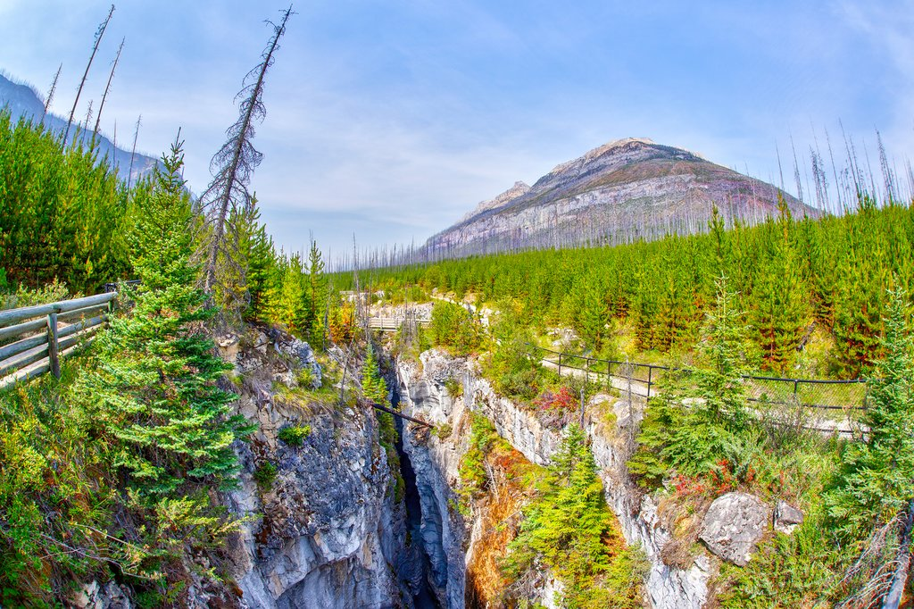 Tokkum Creek flowing through Marble Canyon, Kootenay National Park