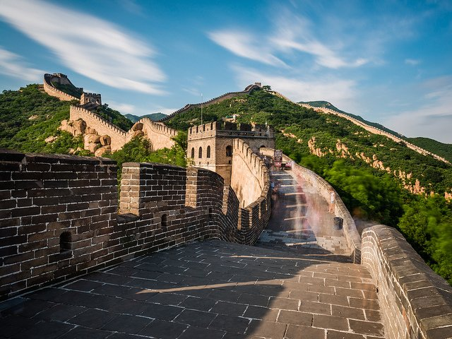 The Great Wall zigzags more than 3,852 miles (6,200 km) through deserts, plains, hills, and oceans