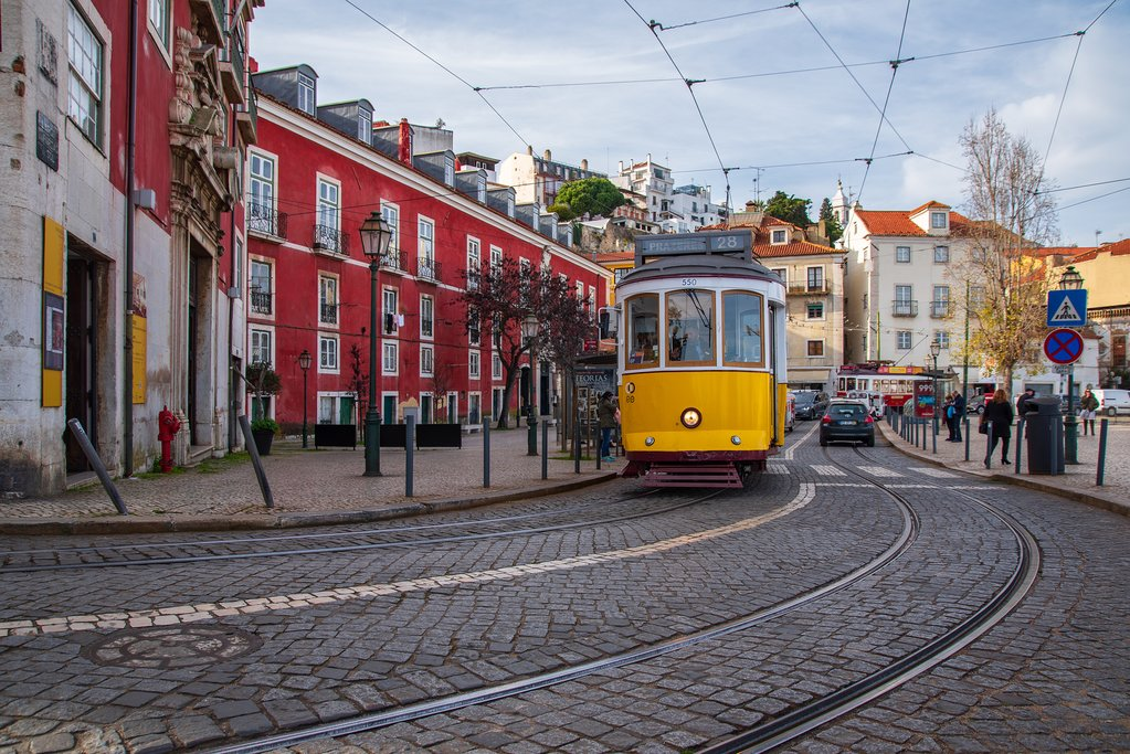 Famous Yellow Trams of Lisbon