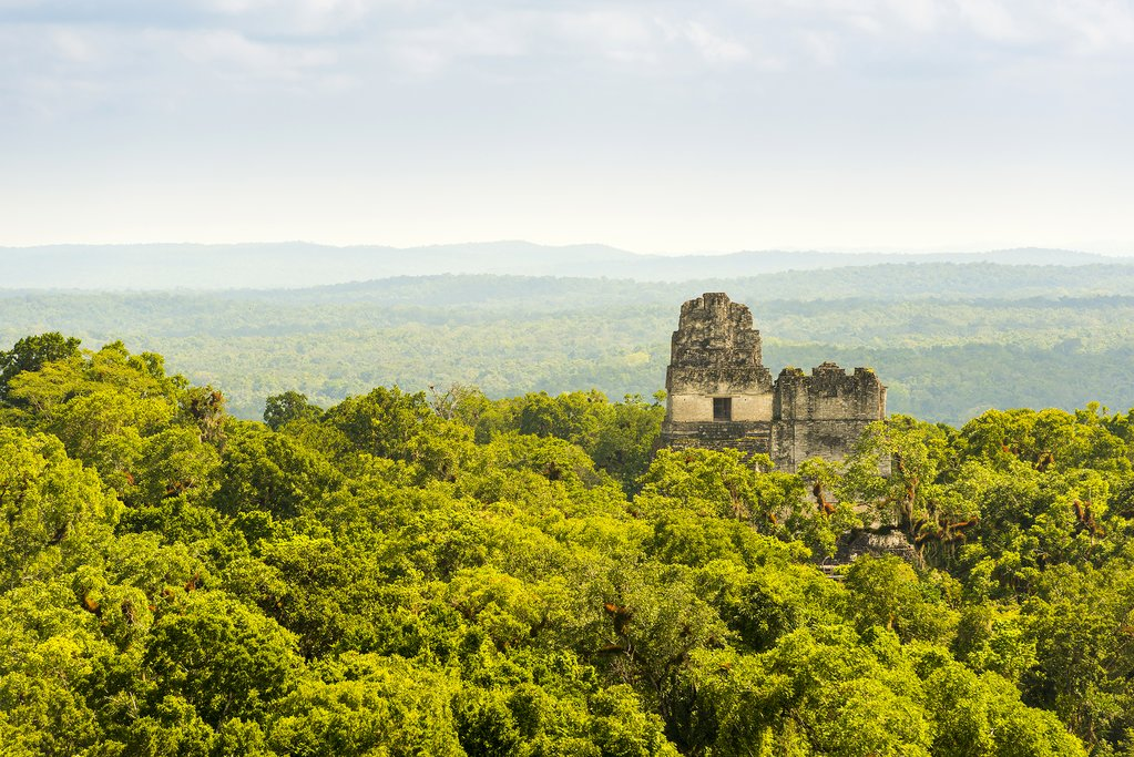 Mayan ruins at Tikal