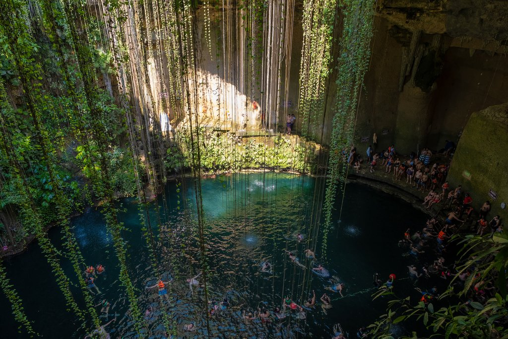 Ik Kil Cenote on the Yucatán Peninsula