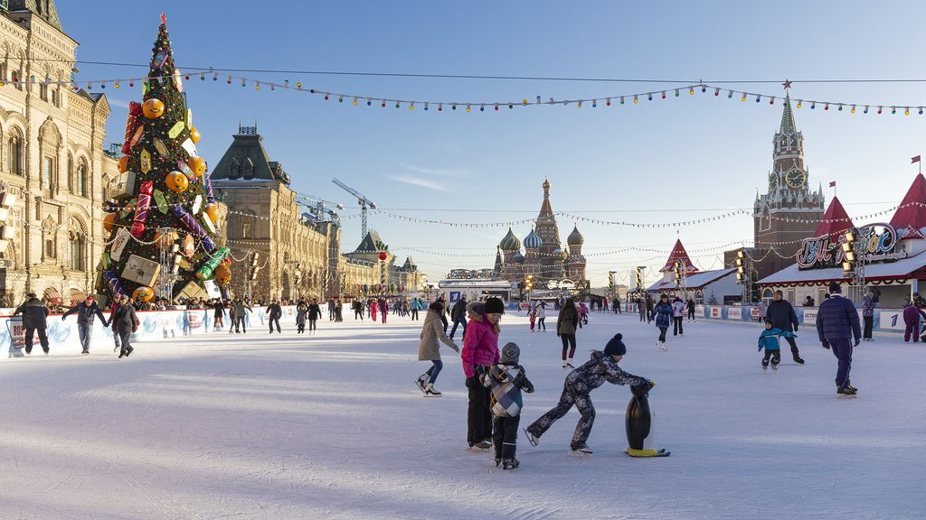 Ice skating in Moscow's Red Square