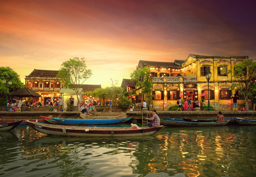 Traditional boats in Hoi An