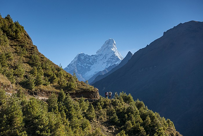 Catch views of Himalayan peaks like Ama Dablam en route to Tengboche