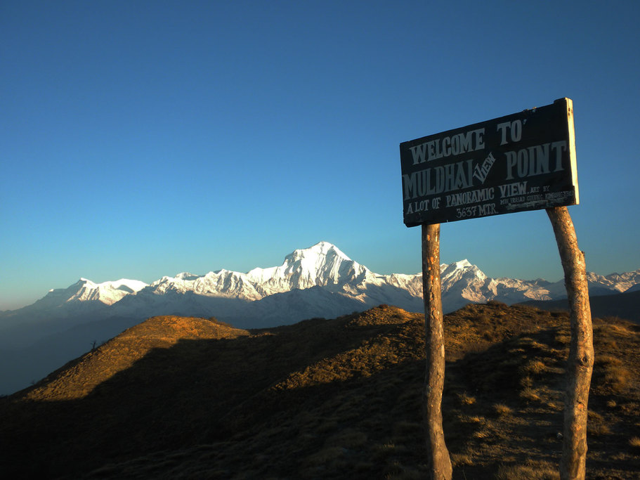 The amazing view from Muldai Peak