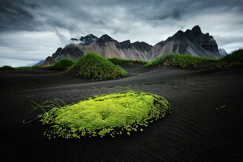 Check out the less frequented Vestrahorn mountains in eastern Iceland's Stokksnes Peninsula