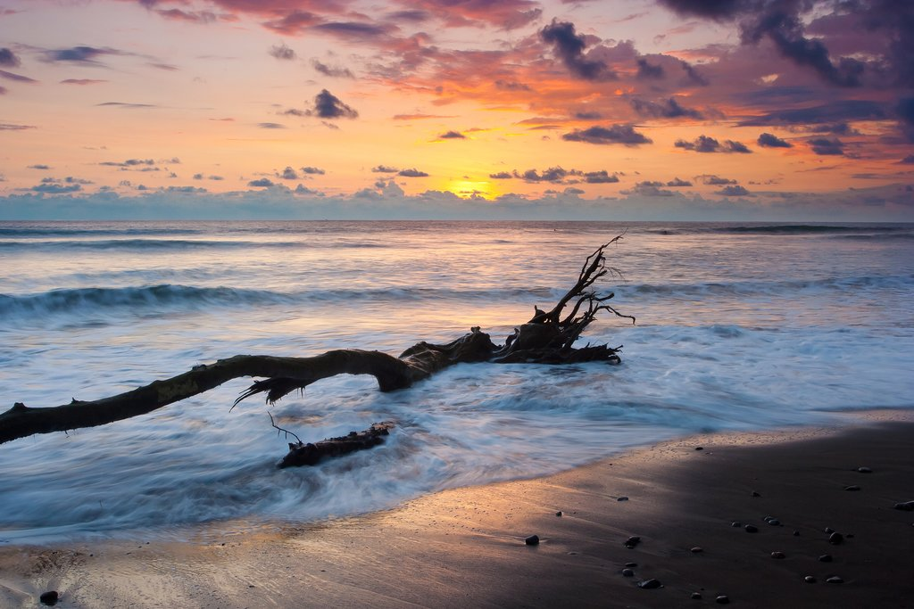 Manuel Antonio beaches are known for sunset views