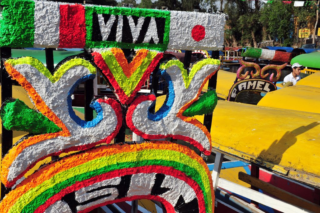 Xochimilcos Floating Gardens in Mexico City, Mexico