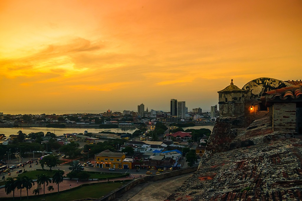A sunset in Colombia