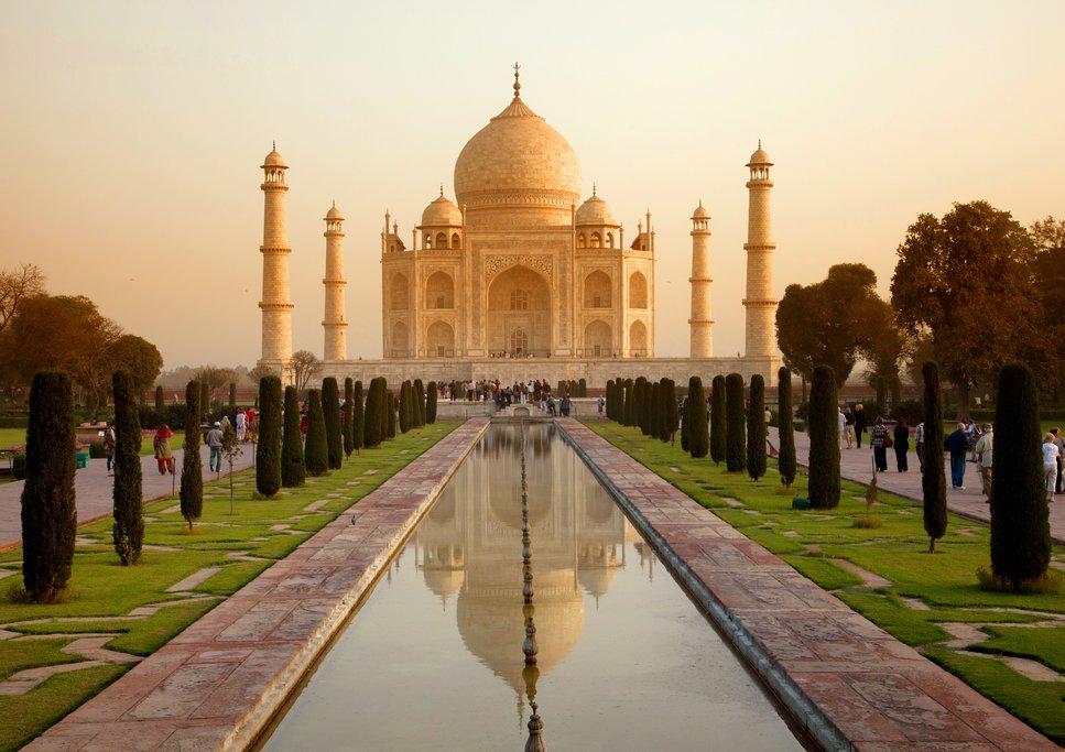 The Taj Mahal in the city of Agra