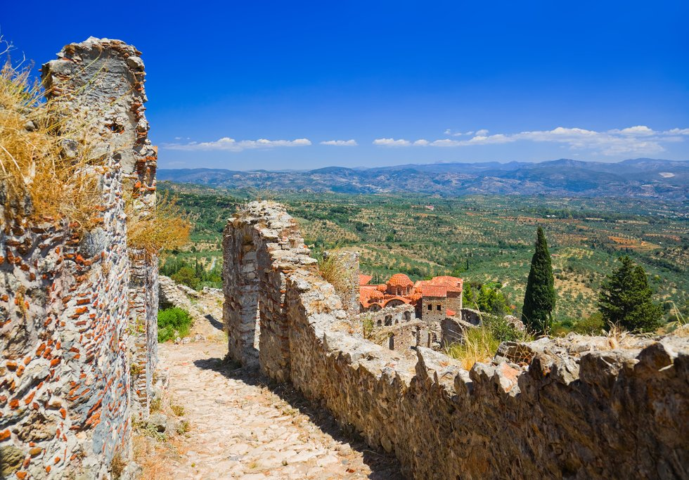 View from the ruins of Mystras