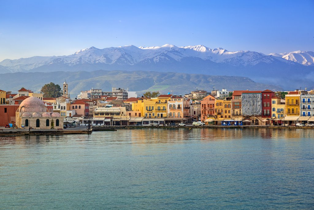 The Venetian port of Old Town, Chania