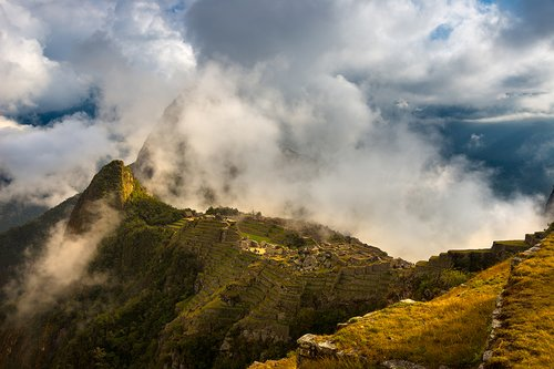 Sunlight on Machu Picchu