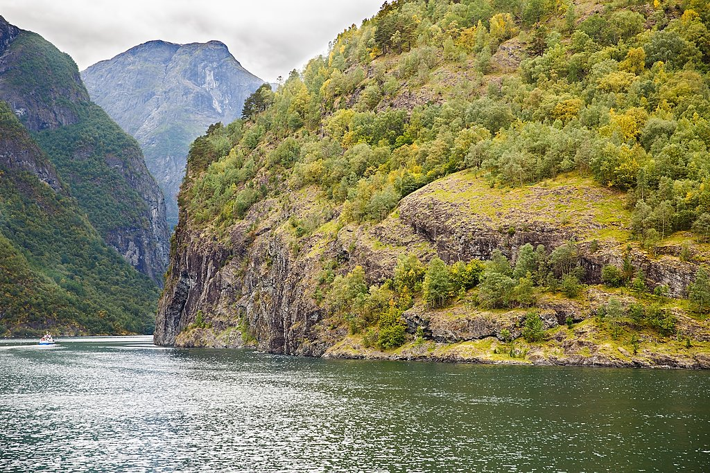 Scenery on the banks of the UNESCO-listed Nærøyfjord