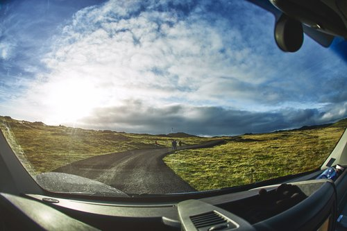 On the way Gunnuhver Hot Springs, close to Keflavik Airport