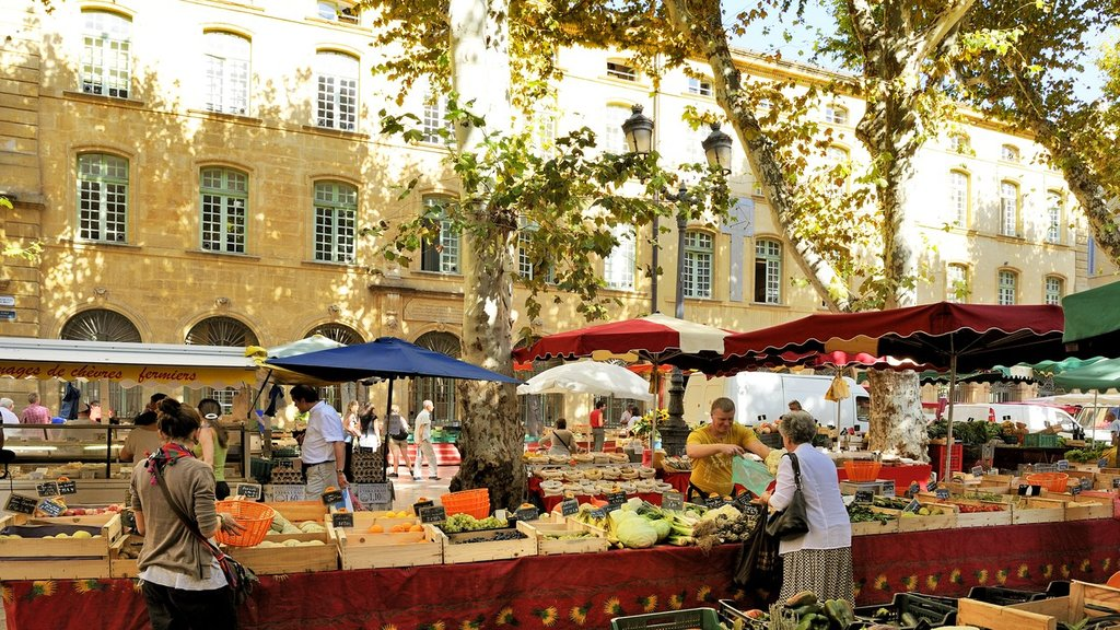 A food market in Aix-en-Provence