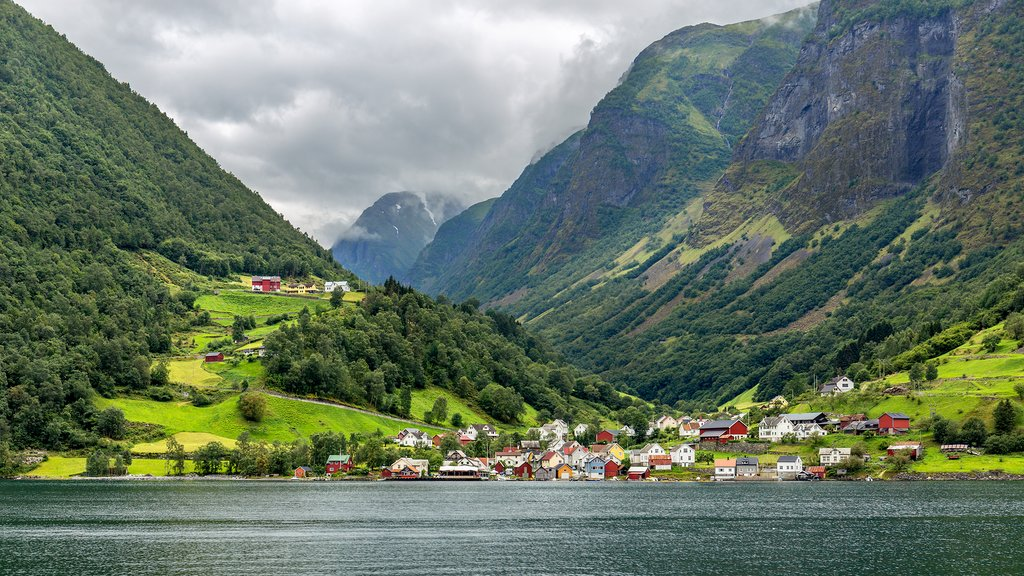Goats outnumber residents in the village of Undredal.