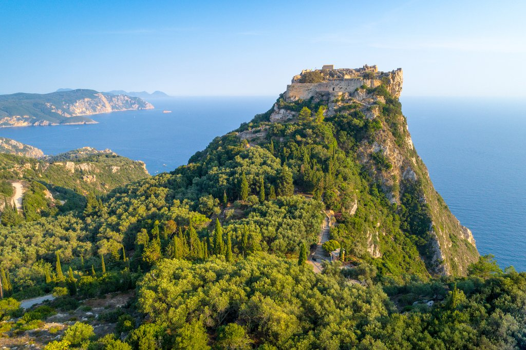 Angelokastro Fortress on Corfu