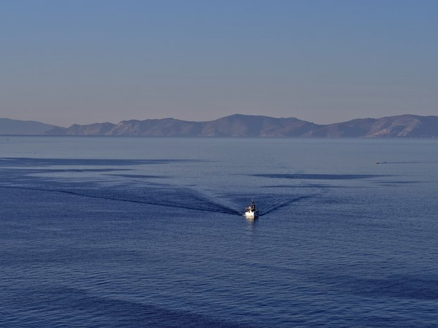 Fishing boat off the coast of Syros