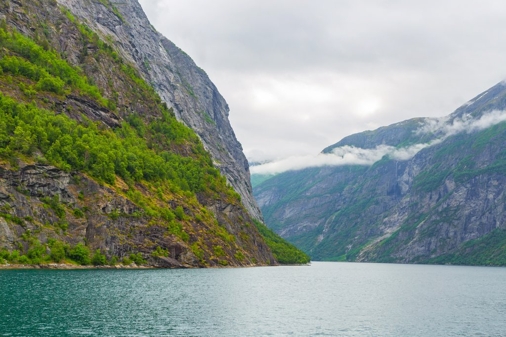 The UNESCO-listed Geirangerfjord where you'll spend three nights