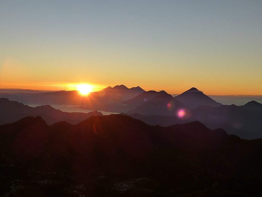 """Looking out to Guatemala's """"Ring of Fire"""" volcanoes"""