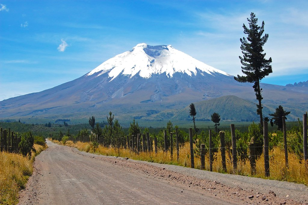 The road leading to Cotopaxi