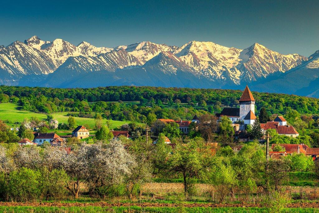 Transylvanian Landscape in Romania