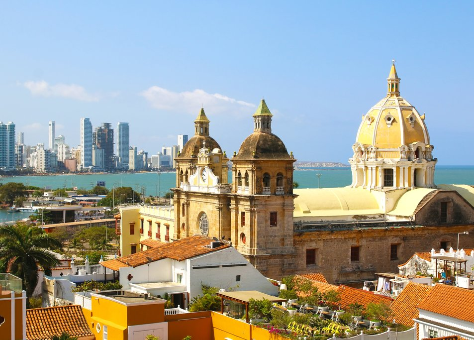 The colorful architecture of Cartagena
