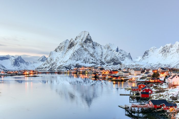 Picturesque villages in the Lofoten Islands