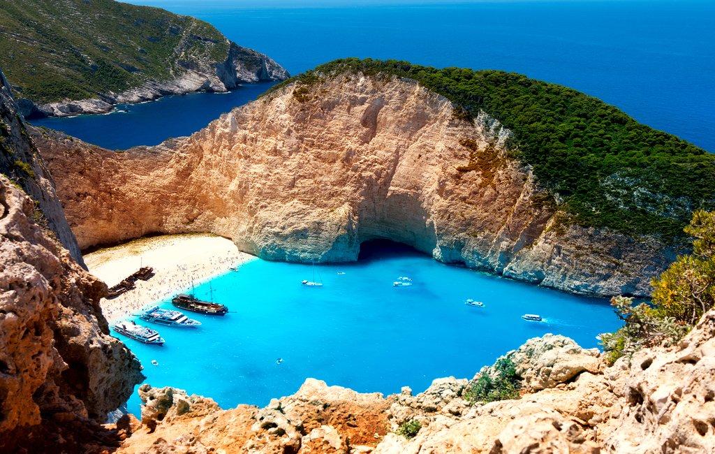 Shipwreck Beach on the island of Zakynthos