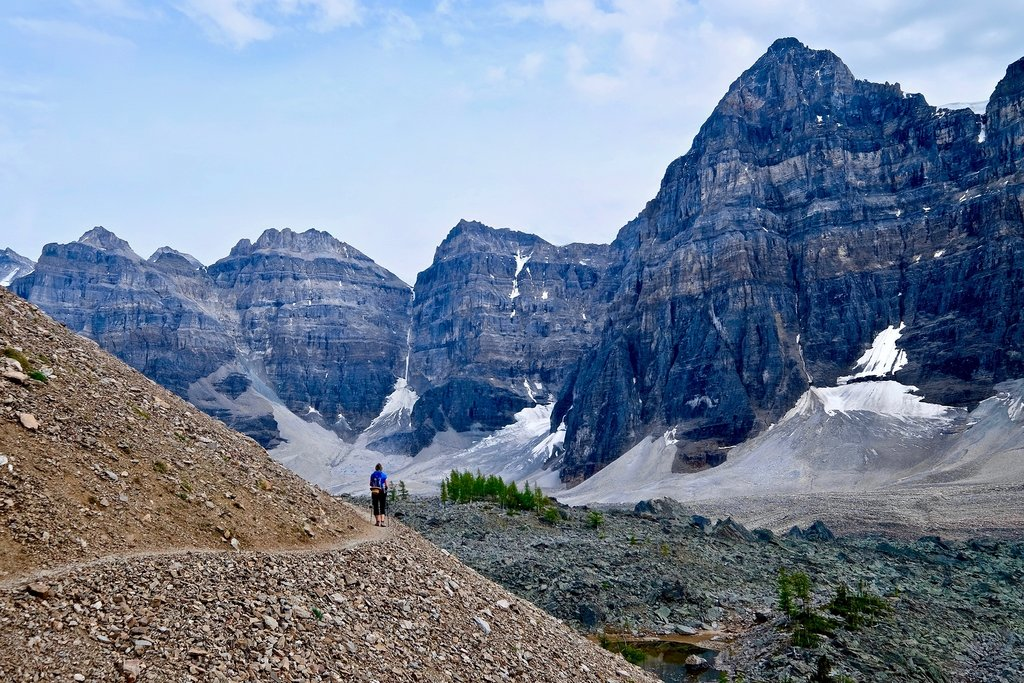 Hiking in the Ten Peaks Valley, Banff National Park