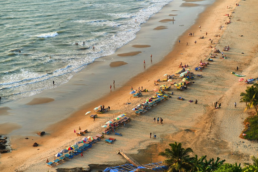 Finish the trip with time to explore Goa's many golden-sand beaches