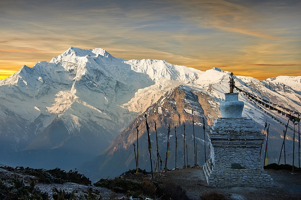 Sunrise view of Annapurna II