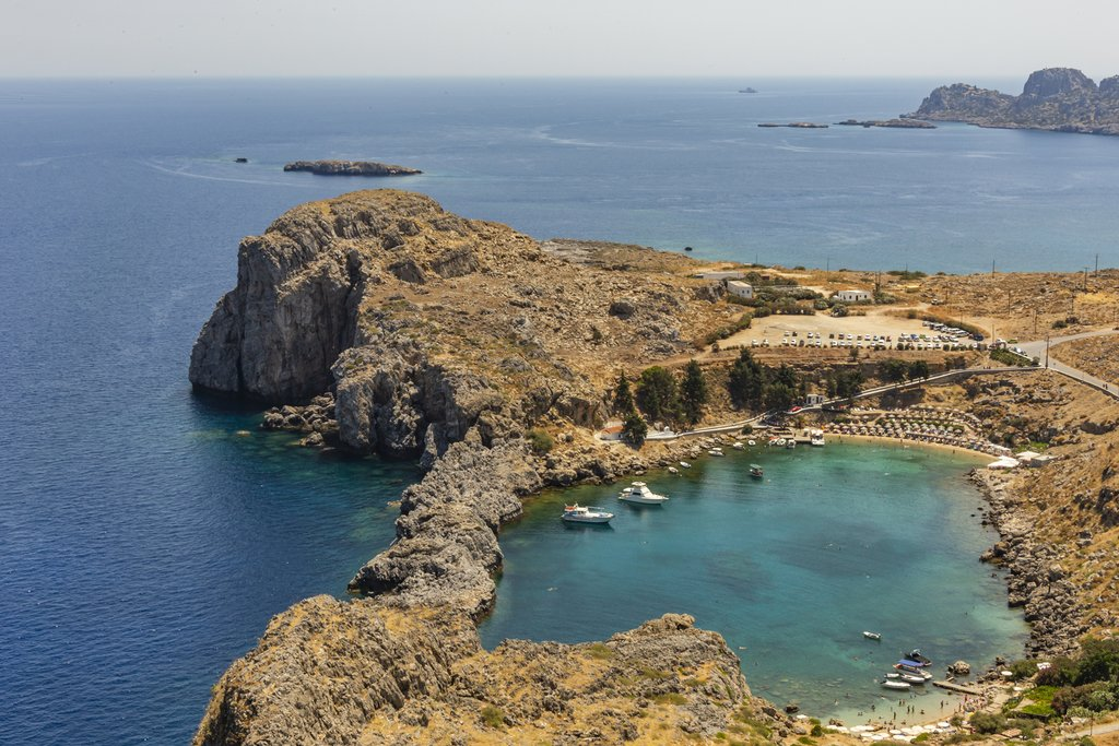 View from Lindos in Rhodes