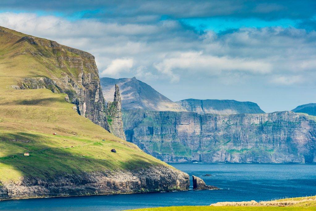 Trolkonufingur Mountain in the Faroe Islands