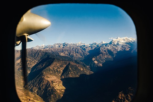 In-flight view of the Himalaya