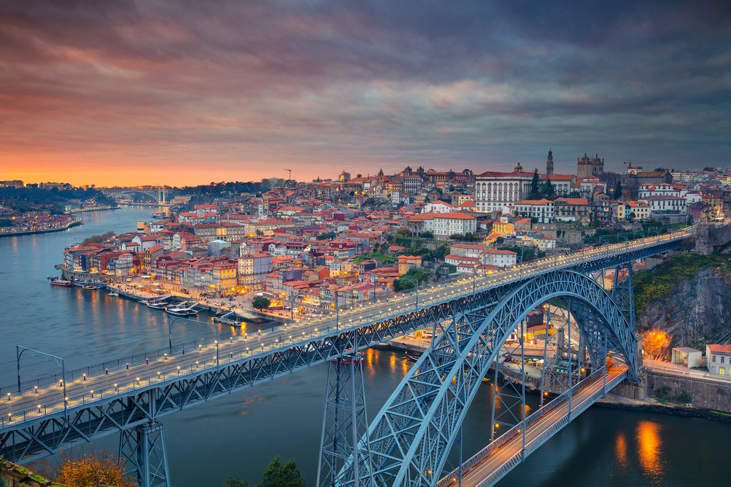 Take in a sunset over Porto and the Douro River