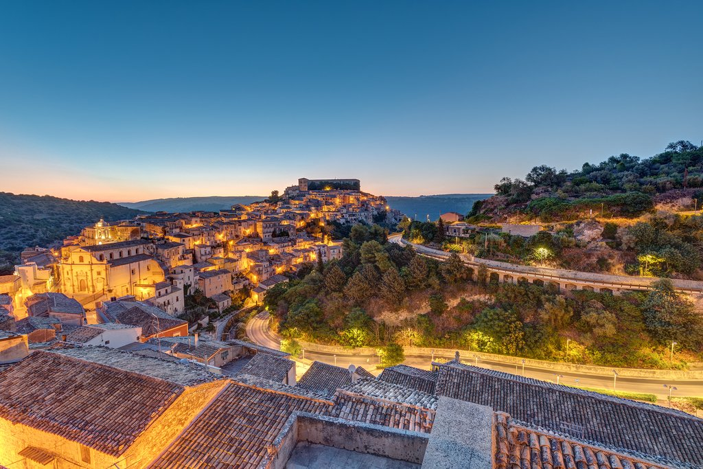 Sunrise at the old baroque town of Ragusa Ibla