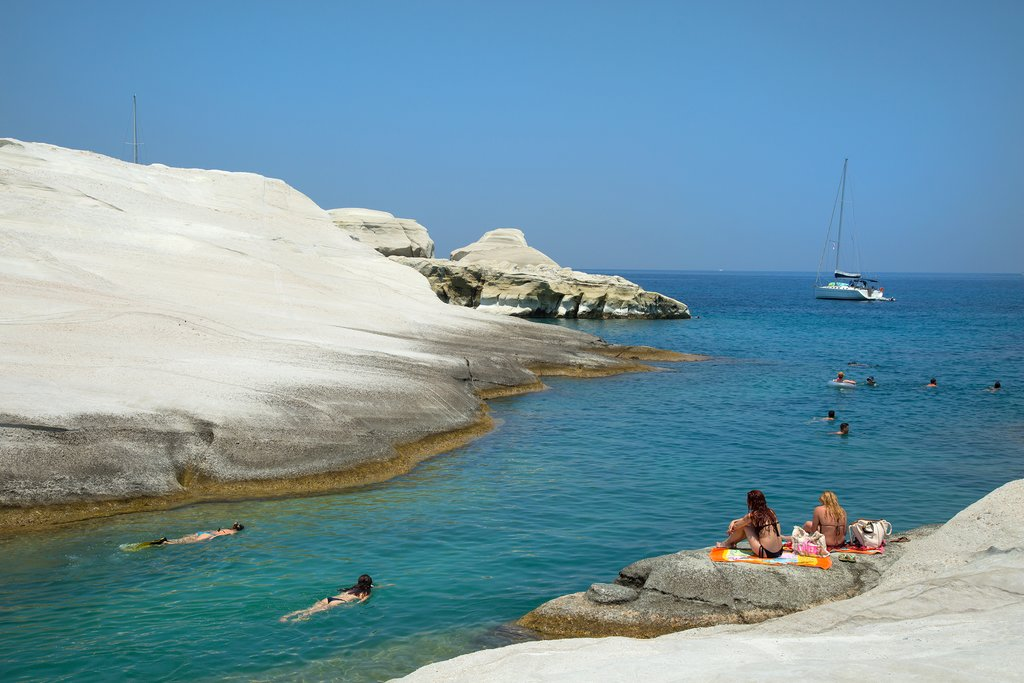 Sarakiniko beach on the island of Milos