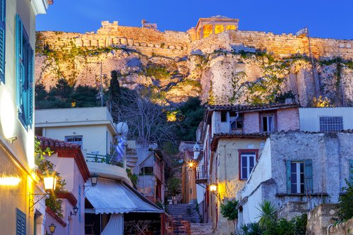 Walk any number of streets for a view of the Acropolis