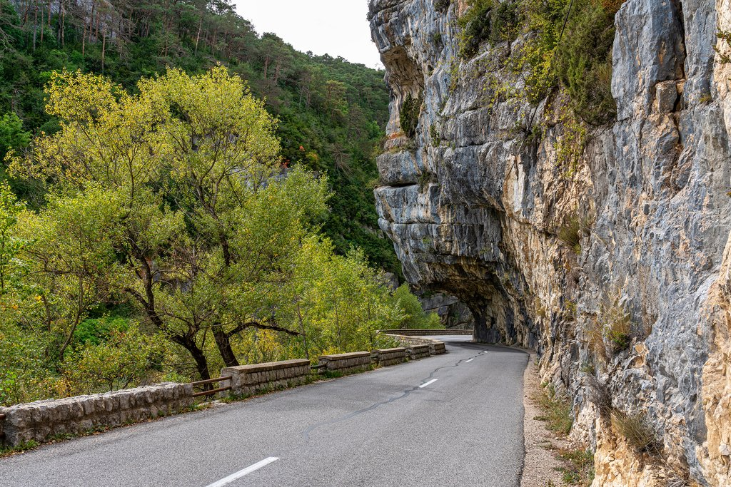 Road through the Verdon Gorge
