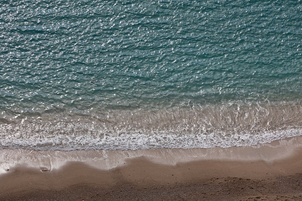 Mediterranean coastline of the French Riviera