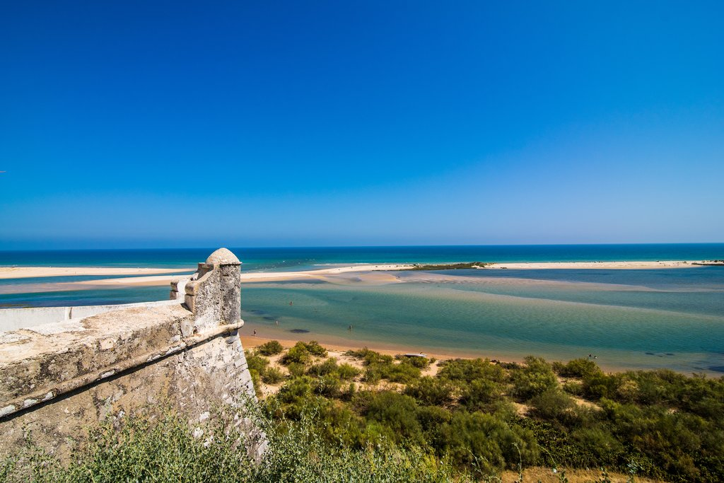 View from the village of Cacela Velha in Ria Formosa