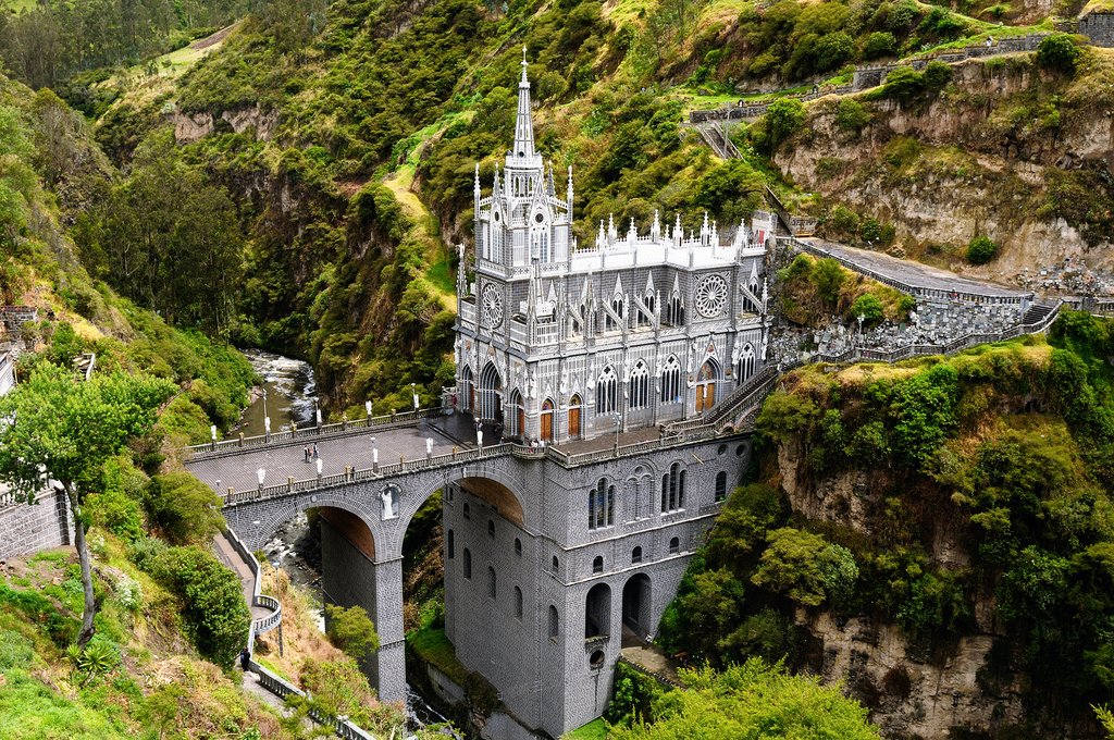 A lesser-known attraction: Las Lajas Sanctuary in Ipiales, near Pasto.