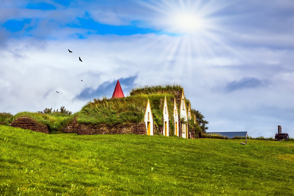 Explore a turf house in Iceland