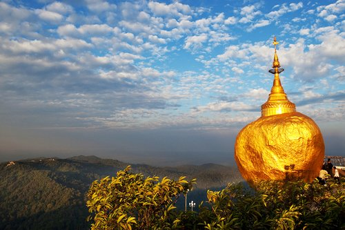 Golden Rock stupa in Myanmar