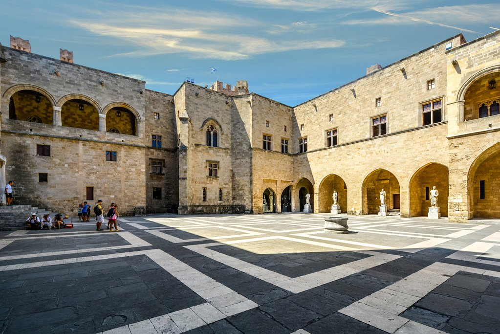 Courtyard of the Palace of the Grand Master of the Knights of Rhodes