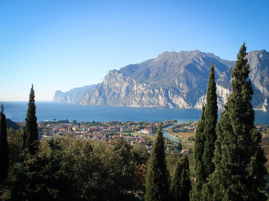 Ferry across the palm-lined shores of Garda Lake