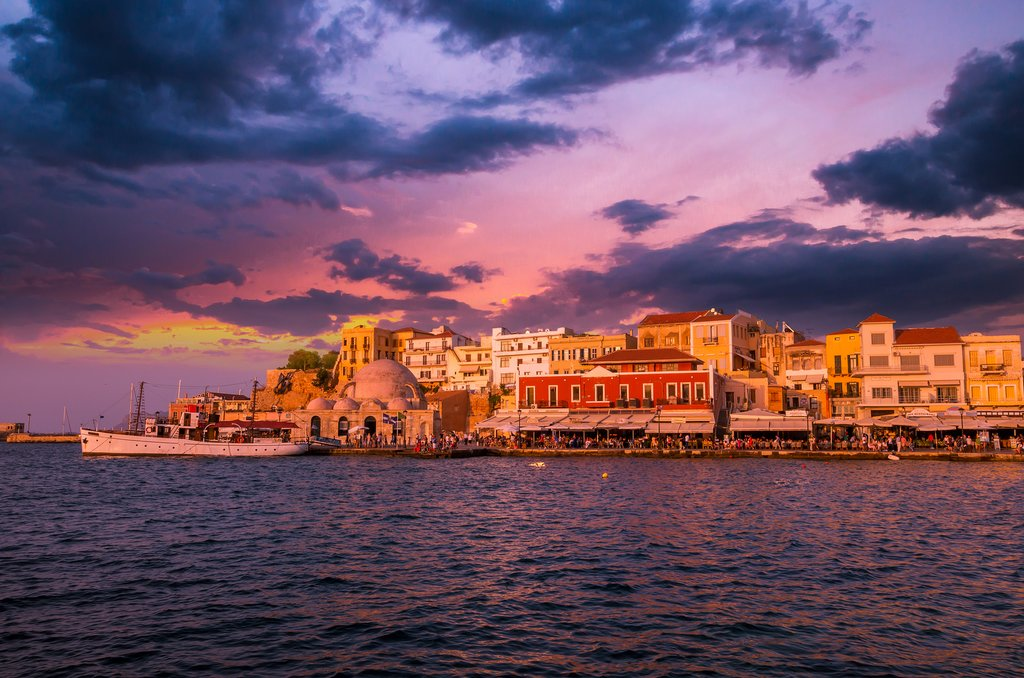 The old port of Chania, built by Venetians in the 14th century