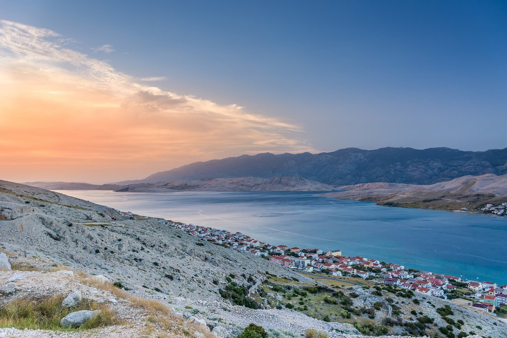 The moonscape landscape on the island of Pag
